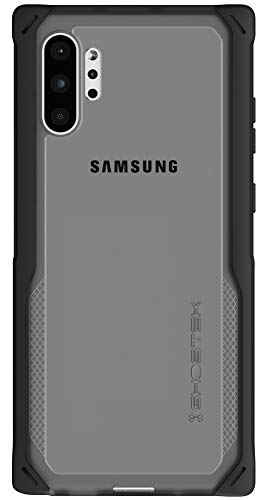 Ghostek Cloak Clear Grip Galaxy Note 10 Plus Case with Super Shock Absorbing Bumper Slim Fit Heavy Duty Protection and Wireless Charging Compatible for 2019 Galaxy Note10+ 5G (6.8 Inch) - (Black)