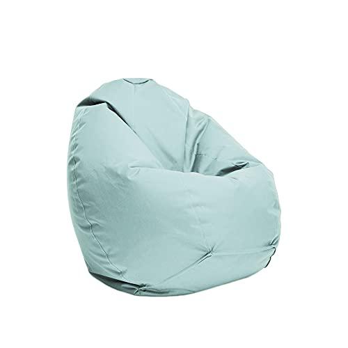 Bruni Sitzsack Classico L in Eisgrau – XL Sitzsack mit Innensack zum Lesen, Abnehmbarer Bezug, lebensmittelechte EPS-Perlen als Bean-Bag-Füllung, aus Deutschland