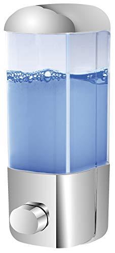 ADOB Dispensador de jabón Vera para montaje en pared para jabón líquido, champú, gel de ducha, loción, 500 ml, atornillado o pegado sin taladrar, 40503