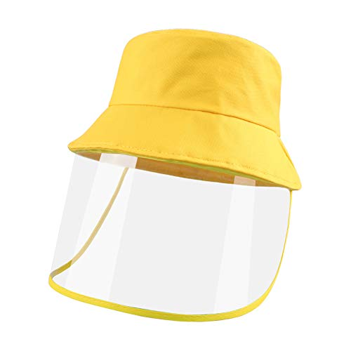 Duoyeree Baby Sun Hat Cotton Kids Bucket with Visor Summer Fisherman Cap for Infrant Toddler Boys Girls Yellow