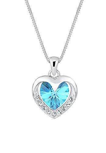 Elli Halskette Damen Herz Glamour mit Swarovski® Kristalle in 925 Sterling Silber