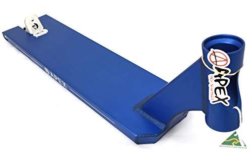 Apex Pro Stunt-Scooter Deck Box Cut - Tabla para patinete (5 pulgadas, incluye pegatina Fantic26, 600 (51 cm), color azul