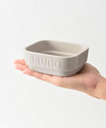 BRUNOトースター調理Sサイズ容量160ml食器小皿電子レンジ食洗機使用可おつまみ晩酌グレージュブルーノセラミックトースタークッカーSBOE067-COOKER-S-GRG