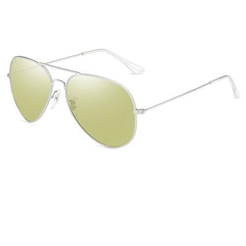 De nieuwe blauwe zonnebrillen, modebrillen, heren- en dameszonnebrillen, leiden hetzelfde punt van gepolariseerd tegen de buitenkant, nachtzicht bewolkt antiblauw (gepolariseerd)