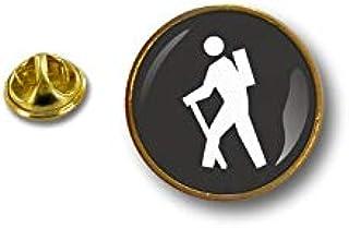 Akachafactory Spilla Pin pin's Spille spilletta camminatore Badge Zaino in Spalla Trekking