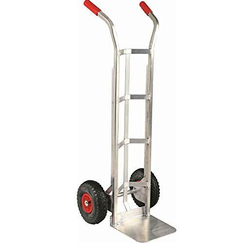 Carrito manual profesional de aluminio para barriles o bomboneras, capacidad de carga 120 kg, carro industrial ligero para transporte en almacén de barriles de cerveza vino – A52CARBOF