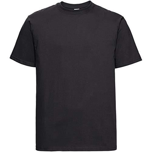Russell Adults´ Classic Heavyweight T-Shirt Herren schwere Qualität R-215M-0, Größe:S, Farbe:Black