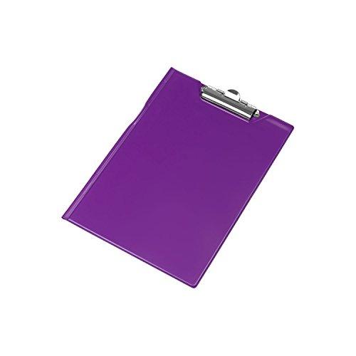 Schreibmappe Klemmbrett mit Schutzklappe Mappe violett Schreibbrett Schreibblock DIN A5 Metallhalter Clip PVC