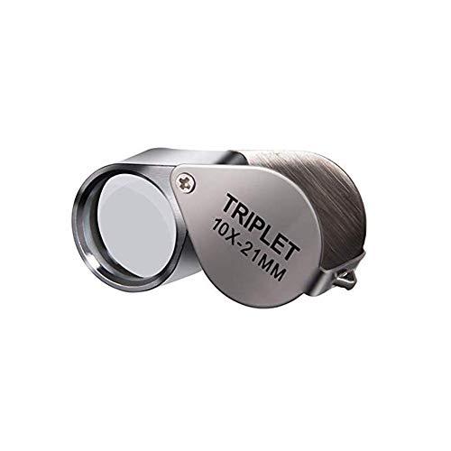 Vergrootglas 30X 21mm*2 Triple Vergrootglas Sieraden met Metalen Bouw en Optische Glas Lenzen, Opvouwbaar voor Sieraden Munten Postzegels Antiek