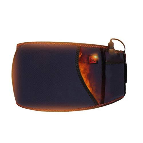 GHHYS Soporte de Espalda calentado, cinturón de Soporte de Espalda Calefacción de luz roja, Soporte de Cintura Inflable con 3 Niveles de Ajuste de Temperatura, para Lumbar