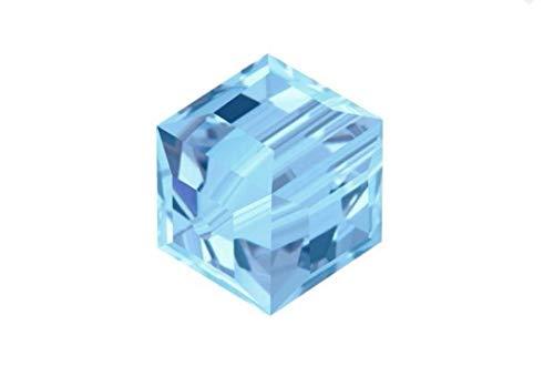 Swarovski Birthstone Cubo de cuentas de cristal para pendientes, pulsera, tobillera, collar, llavero, joyería