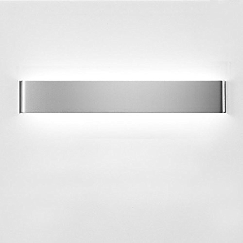 Simple design style Spiegel Scheinwerfer Nachttischlampe Wohnzimmer Schlafzimmer Gang Wandleuchte Badezimmer Kommode Wandleuchte geführt (Farbe   Silber-41cm)