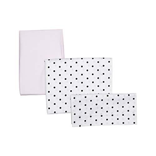 Be 42133 3-delige set voor babybed 60: lakens hoeslaken, hoofdkussen, 100x165 cm, roze