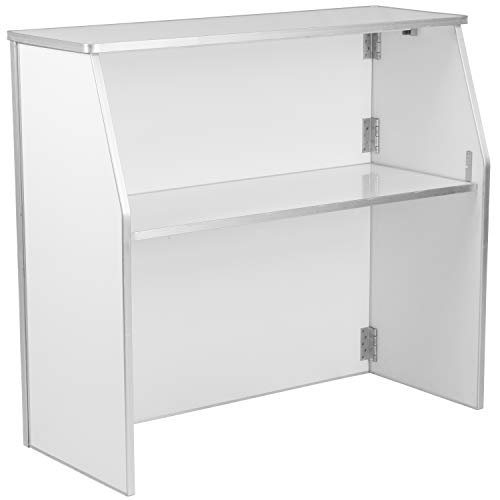 Flash Furniture 4' White Laminate Foldable Bar