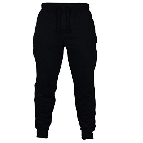 N\P Pantalones de deporte para hombre, para correr, gimnasio, correr, etc. Negro XXXL
