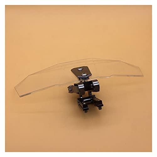 Deflector De Viento Moto Juego de Soportes de Parabrisas de Parabrisas de Motocicleta Ajuste de Protector de Pantalla bloqueable para R1200GS F800GS Universal (Color : Gray)