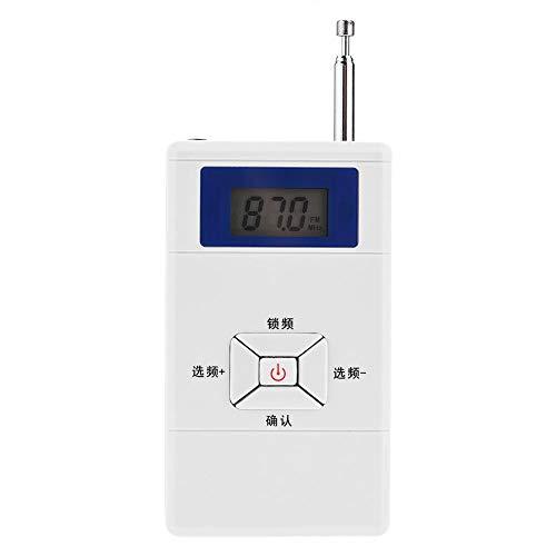 awstroe FM-Sender 70 MHz ~ 108 MHz Audio Stereo FM Konverter Adapter Geeignet für Zuhause, Auto, Klassenzimmer, Auditorien Tragbar Mini Wireless FM Transmitter