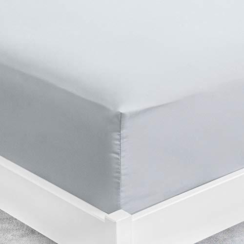 ViscoSoft | Sábana bajera 80 x 200 x 30 cm microfibra gris | Sábana grande de 30 cm | Colchón grueso | Funda ajustable | Tejido suave sin pliegues – Sábana bajera para colchón 80 x 200 cm