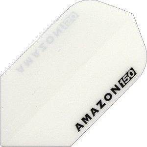 STRONG Amazon 150 Micron Slim Flights, 1 Set = 3 Stück (Weiss)