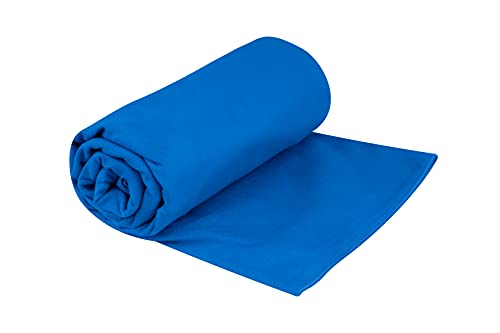 Sea to Summit Drylite Towel, Lightweight Camping and Travel Towel, X-Large / Beach Towel, Cobalt Blue