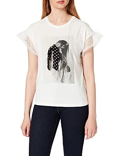 Naf Naf OMARIE MC Camiseta, Crudo, XS para Mujer