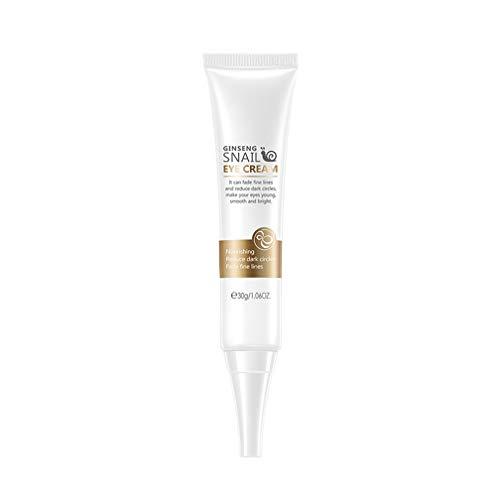 Crema de ojos de caracol para antiarrugas, antienvejecimiento, eliminar las ojeras, reducir las líneas finas, suero de esencia de reparación de extracto de caracol hidratante antiinflamatorio (1PCS)