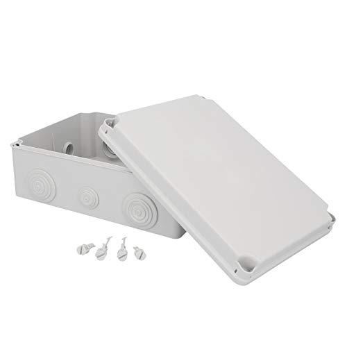 UNITEC Aufputz-Abzweigkasten | Abzweigdose | Installationsgehäuse | 241 x 180 x 95 mm | IP 65 | schraubbarer Deckel
