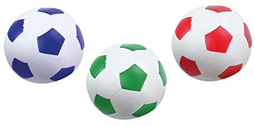 Lena 62163 Lot de 3 Ballons de Football Souples pour lintéri