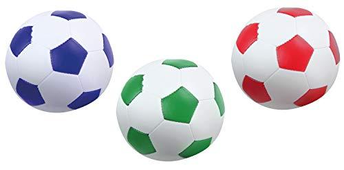 Lena- Flames N Games - Juego de Pelotas de fútbol (3 Unidades, 10 cm, para Interior y Exterior, para niños a Partir de 12 Meses), Color Blanco (SiMM Spielwaren 62163)
