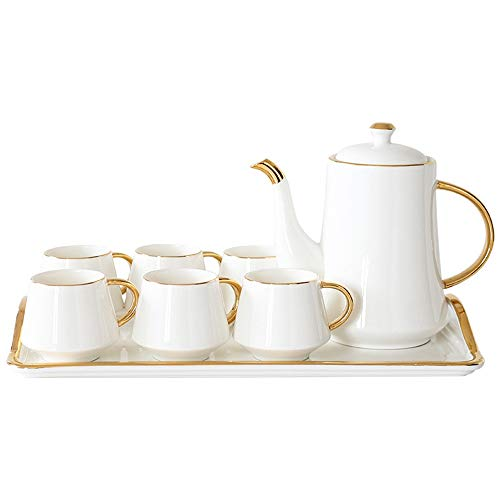 Review Of Tea set Bone China Afternoon Tea Drink Coffee Set European Creative Glaze Porcelain Coffee...