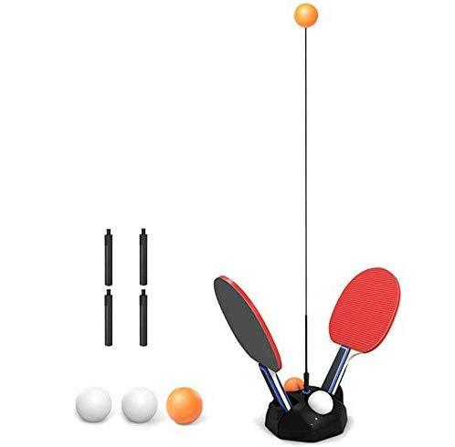 Mesa de Ping Pong portátil Conjunto, Mesa de Ping Pong Entrenador con 2 Raquetas y 6 Bolas de la Aptitud para la formación Personalizada/descompresión/Ocio/Juguetes para niños,90cm
