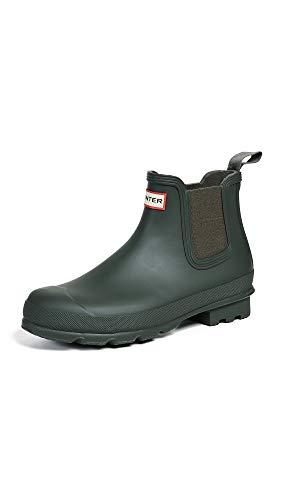 Hunters Boots Men's Original Chelsea Boots, Dark Olive, Green, 12 Medium US