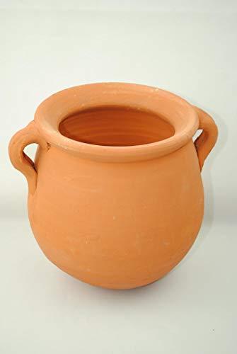 Kunert-Keramik Vase,Blumentopf mit 2 Henkeln,spanische Terracotta,handgefertigt,17cm Höhe