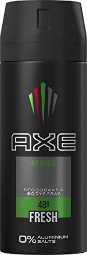 AXE Bodyspray für einen langanhaltenden Duft Africa ohne Aluminiumsalze, 1er Pack (1 x 150 ml)