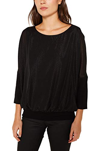 Esprit 119EE1F019 Blusas, Negro (Black 001), S para Mujer