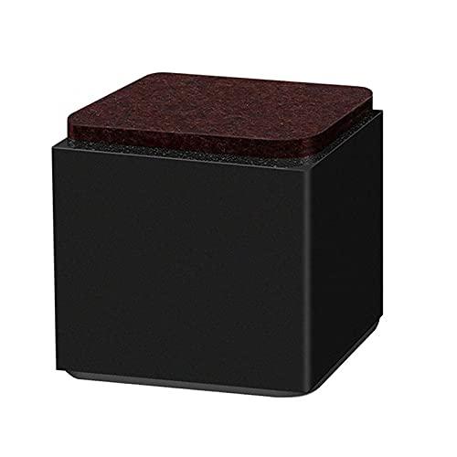 GAXQFEI Pies Cuadrados para Muebles X4, Patas de Soporte para Mesa Y Silla para Sofá, Acero Al Carbono Negro, Película Autoadhesiva, Altura 52 Mm,Negro