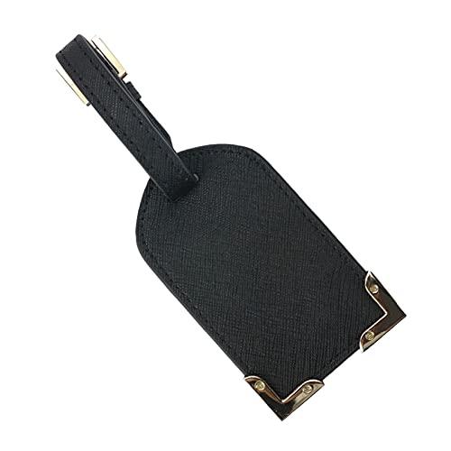 TTCI-RR Kofferanhänger, Anfangsbuchstaben Reisezubehör Metalldekoration Gepäckanhänger Reise Kofferaufkleber ICH WÜRDE Adressmarken (Color : Black 7.5x12cm)