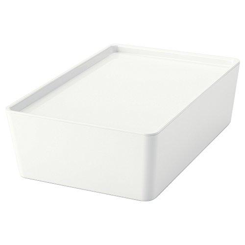 IKEA KUGGIS - Box mit Deckel Weiß