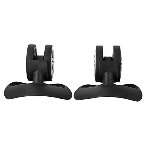 Ruedas de maleta firme de doble rodamiento, fácil de instalar, larga vida útil, ruedas silenciosas para equipaje, para maleta de repuesto (A65, negro grande)