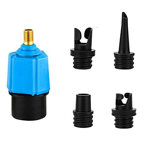 Adaptador de Bomba Sup, Macllar Adaptadores de Bomba Inflable con 4 boquillas Convertidor de Bomba de Aire eléctrica para Tabla de Remo, Kayak, Bote de Goma, Cama Inflable