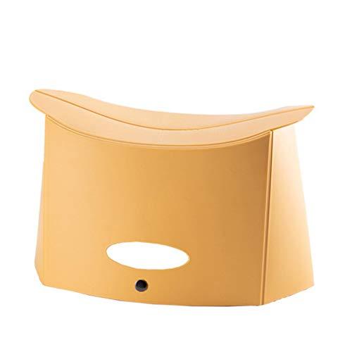 househome Taburete plegable portátil al aire libre, ligero taburete plegable para niños y adultos, jardín de cocina, baño, taburete plegable, silla de camping de pesca versátil con agujero de agarre