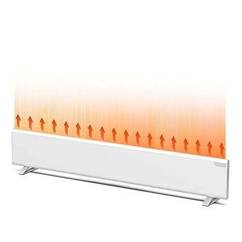 JIEZ Calentador de zócalo de 1.5KW, Calentador de convección de Piso/Pared, radiador Remoto de área Grande, Calentador de rodapié eléctrico con termostato, IPX4 a Prueba de Agua, Pantalla tácti