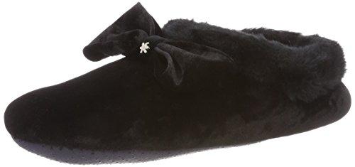 flip*flop Couchy Bow Damen Hausschuhe, Schwarz (Black 0000), 40 EU