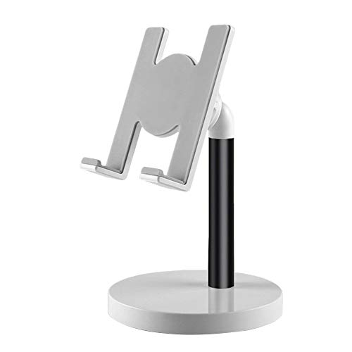 Zwbfu Soporte para teléfode aleación de Aluminio para Escritorio/Cama Compatible con teléfocelular y Tableta de Menos de 10 Pulgadas