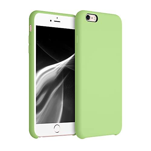 kwmobile Cover Compatibile con Apple iPhone 6 Plus / 6S Plus - Cover Custodia in Silicone TPU - Back Case Protezione Cellulare Color tomatillo
