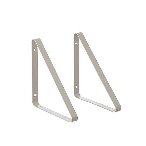 HLLZRY Shelf Bracket 2 Stks Modern Heavy-Duty Ontwerp Decoratieve Wandplank voor Boek TV Garage Opslag Rack Wandmontage Ondersteuningsplank 24x24cm
