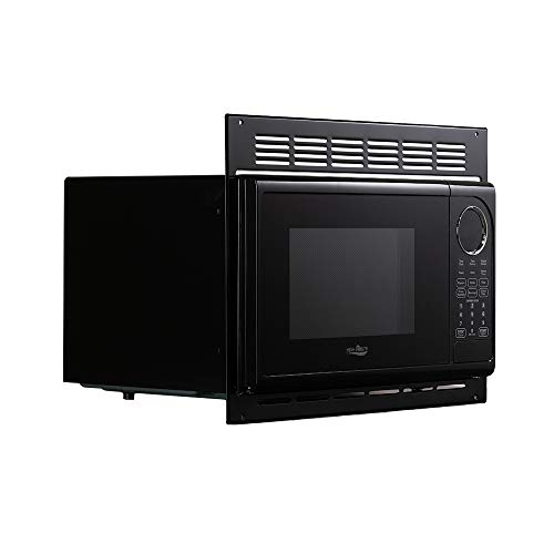 Tough Grade RV Microwave | .9 Cubic Ft Black Microwave with Trim Kit | 900 Watt