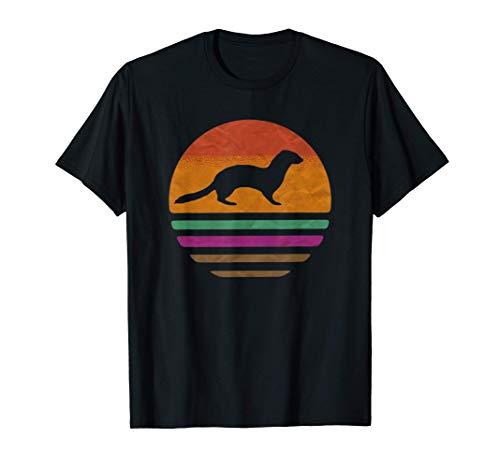 armiño, comadreja de cola corta Retro Vintage 70s 80s Camiseta