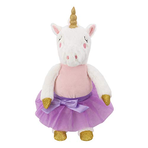 NoJo Luna The Pink, Lavender & White Plush Unicorn with Clothes, Pink, Lavender, White, Gold