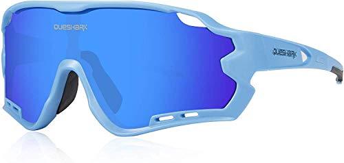 ZoliTime Fahrrad Sonnenbrille Polarisierte Herren Sportbrille 4 Linse Fahrradbrille Fahrradbrille